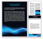 Abstract/Textures: Blue Wave Word Template #06924