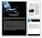 Technology, Science & Computers: Space Shuttle Word Template #06926