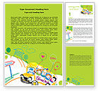 Education & Training: School Bus As Childish Picture Word Template #06932