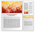 Global: World Overview In Red Yellow Palette Word Template #06933