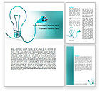 Consulting: Electric Light Bulb Word Template #06935