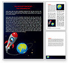 Education & Training: Cartoon Rocket Word Template #06937