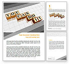 Education & Training: You Can Do It Word Template #06938