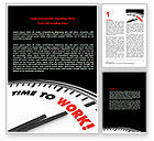 Business Concepts: Time to Work Word Template #06949