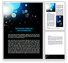 Abstract/Textures: Blue Circles Word Template #06952