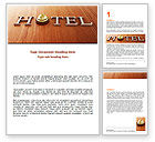 Careers/Industry: Hotel Check-in Word Template #06956