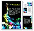 Abstract/Textures: Plantilla de Word - círculos de color #06957