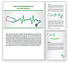 Medical: Stethoscope Diagram Word Template #06964