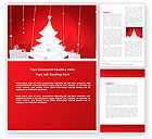 Holiday/Special Occasion: Christmas Tree Theme Word Template #06966