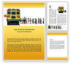 Education & Training: School Bus Stop Word Template #06967