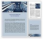 Construction: Escalator Word Template #06969