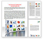 Careers/Industry: Stock Images Word Template #06970