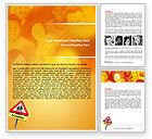 Education & Training: Sign Of School Crossing Word Template #06977