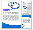 Business: Figure Eight Word Template #06978