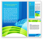 Abstract/Textures: Blue and Green Word Template #06987