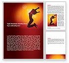 Art & Entertainment: Happy Girl Word Template #06991