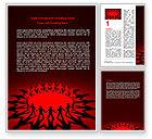 Religious/Spiritual: Runder tanz auf einem roten feld Word Vorlage #06993
