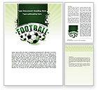 Sports: Modèle Word de coupe du monde de football #06996