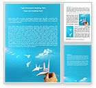 Business Concepts: Paper Birds Word Template #07000