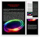 Abstract/Textures: Rainbow Circle Word Template #07005