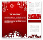 Holiday/Special Occasion: Red new year thema Word Vorlage #07018