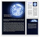 Global: World Communication Word Template #07019