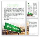 Medical: Pandemic Word Template #07036