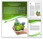Nature & Environment: Green Habitat Word Template #07037