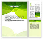 Abstract/Textures: Green Theme Word Template #07047