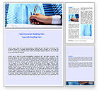 Business: Signing Document Word Template #07049