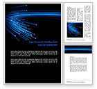Technology, Science & Computers: Blue Optic Fibers Word Template #07052