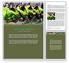 Sports: Boat Race Word Template #07053