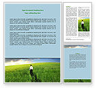 Business Concepts: Boundless Opportunities Word Template #07055