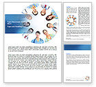 People: Medical Personnel Circle Word Template #07059