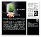 Global: Green Solutions Word Template #07063