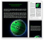 Sports: Football Planet Word Template #07068