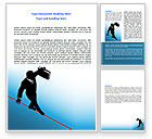 Business Concepts: Rope Walker Word Template #07078