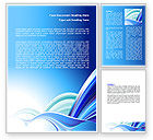 Abstract/Textures: Blue Waves Abstract Word Template #07085