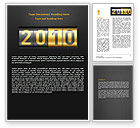 Holiday/Special Occasion: 2010 Counter Word Template #07088