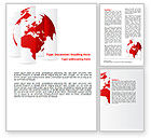 Global: Fragmented World Map Word Template #07090