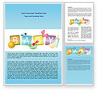 Education & Training: Baby Theme Word Template #07094