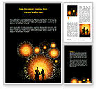 Holiday/Special Occasion: Beautiful Fireworks Word Template #07099