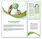 Global: Terrestrial Globe And Map Word Template #07100