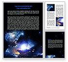 Nature & Environment: Violet Nebula Word Template #07105