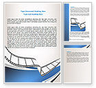 Careers/Industry: Movie Tape Word Template #07120