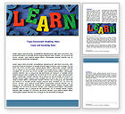Education & Training: Learn Word Template #07122