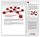 Technology, Science & Computers: Modèle Word de modèle de réseau #07124