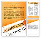 Education & Training: Modèle Word de principes du travail d'équipe #07133