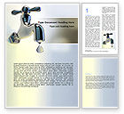 Nature & Environment: Water Tap Word Template #07138