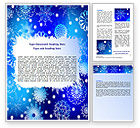 Holiday/Special Occasion: Snowflake Frame Word Template #07154